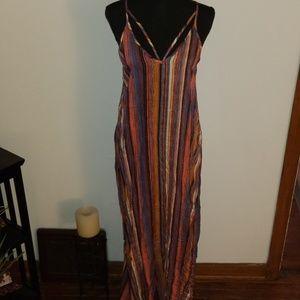 Xhilaration Multicolor Stripe Maxi Dress